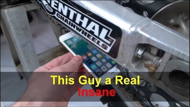 This Guy Put His iPhone Within The Chain Of A Dirt-Bike