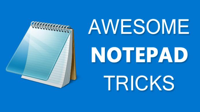 10 Cool Notepad Tricks Bat File For Fun - Notepad Hacks