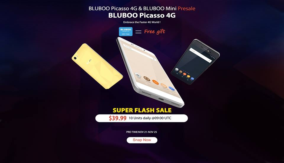 BLUBOO Picasso 4G Smartphone Just At $39.99, More Coupons Available