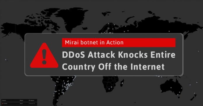 Hackers Just Used Mirai Botnet To Shut Down The Internet Of An Entire Country