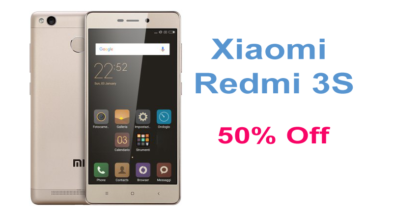 Xiaomi Redmi 3S 4G Smartphone Is On Flash Sale With 50% Off