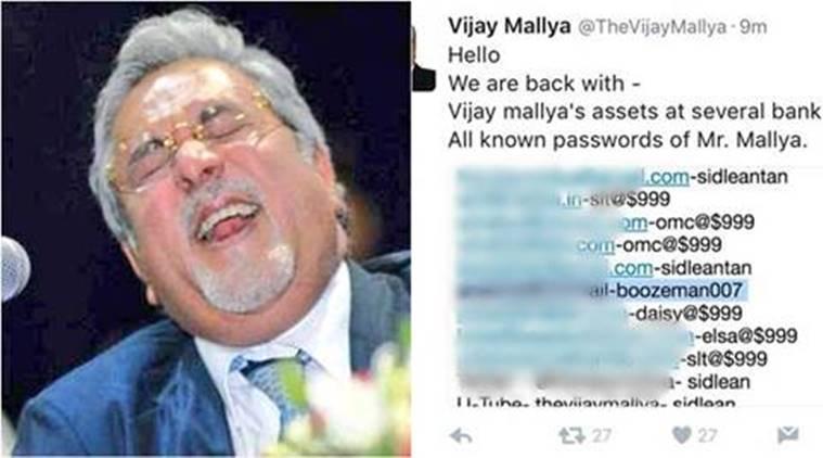Millionaire Mallya Twitter Account Hack By Legion