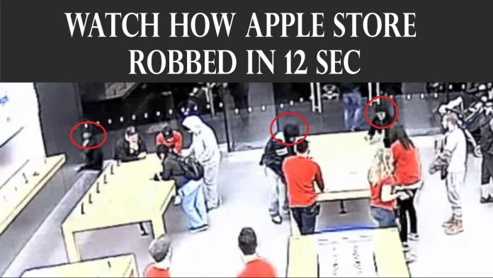 Watch How Apple Store Robbed In 12 Sec