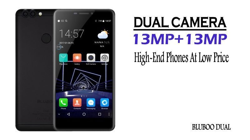BLUBOO Dual 13MP Camera 2GB RAM Fingerprint Scanner