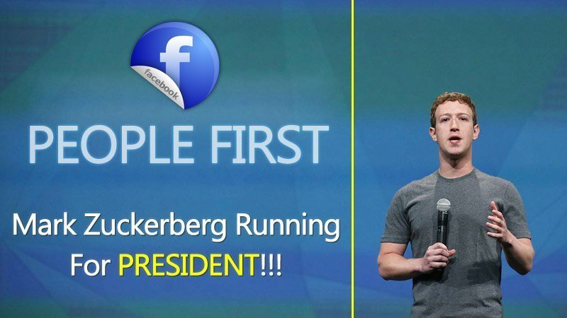 Shocking Rumors, Facebook CEO Mark Zuckerberg Running For President