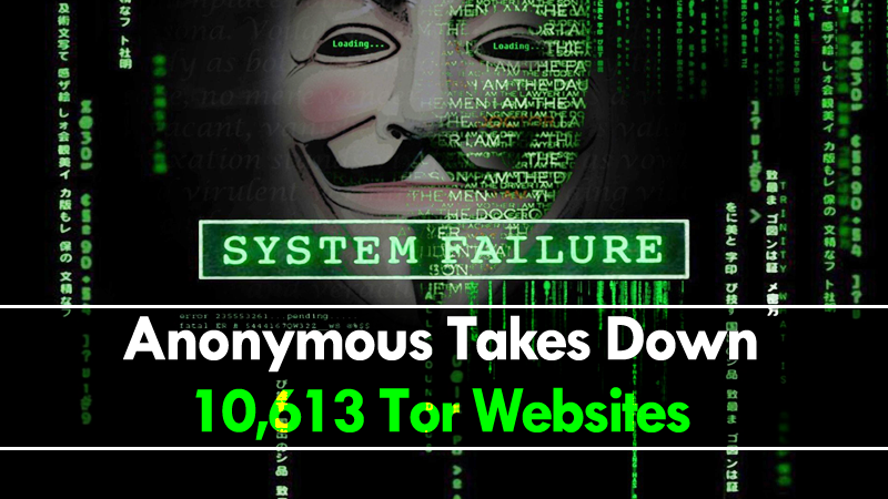 Anonymous Takes Down 10613 Tor Websites On Dark Web