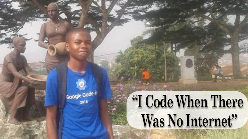 Cameroon Hometown Nji Collins Gbah 17-Year-Old Google Coding Winner