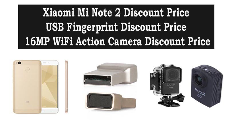 Xiaomi Mi Note 2 Discount Price With USB Fingerprint Module And 16MP WiFi Action Camera