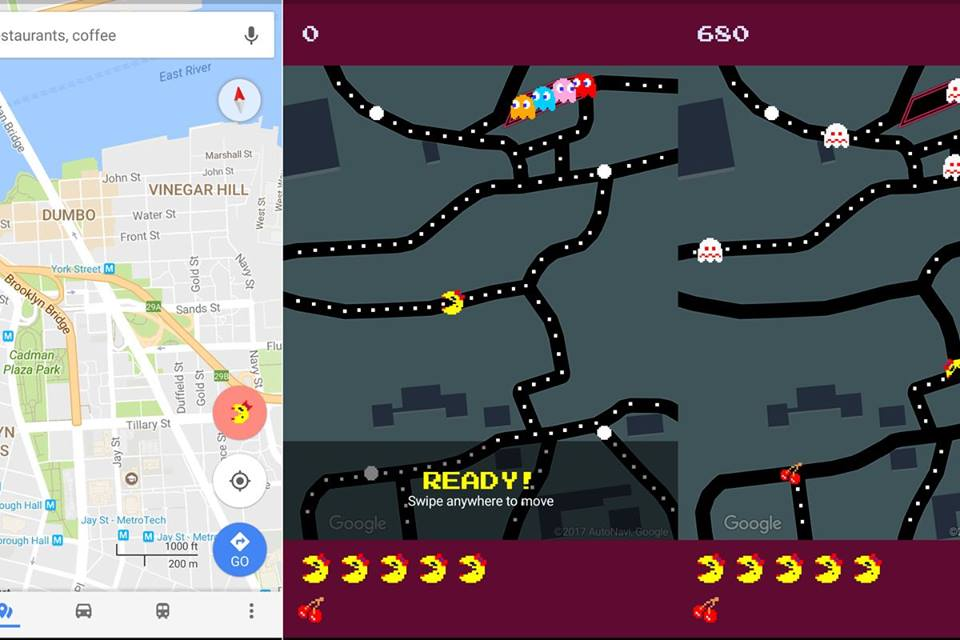 Play Ms. Pacman On Google Maps Street For April Fool's Day