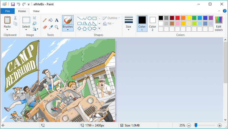 Pat Hines Created Images Using MS Paint After 10 Years Of Hard Work