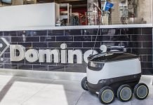 Pizza Delivery Robot From Domino's In London