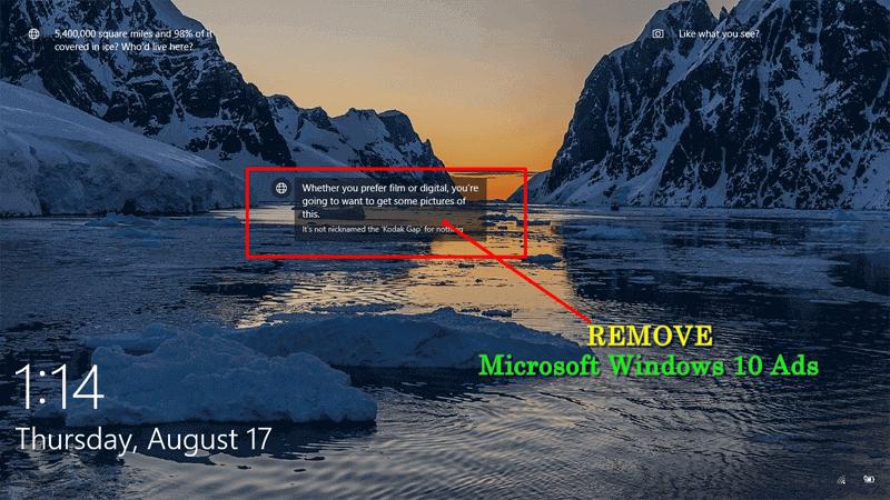 how to delete windows 10 lock screen