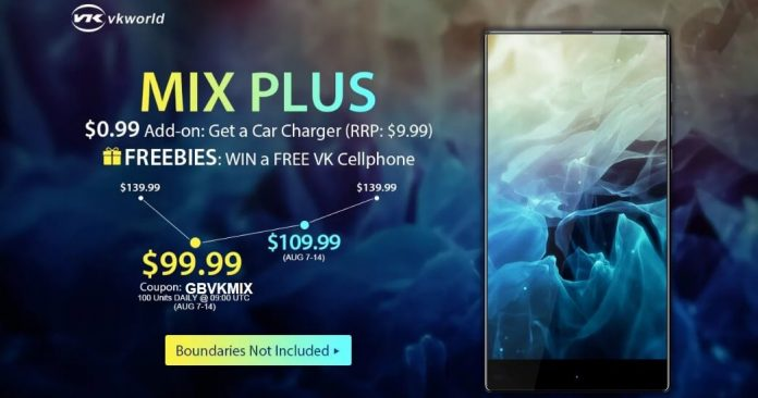 The Mix Plus Edgeless Phone With only $139.99 With Fingerprint Scanner