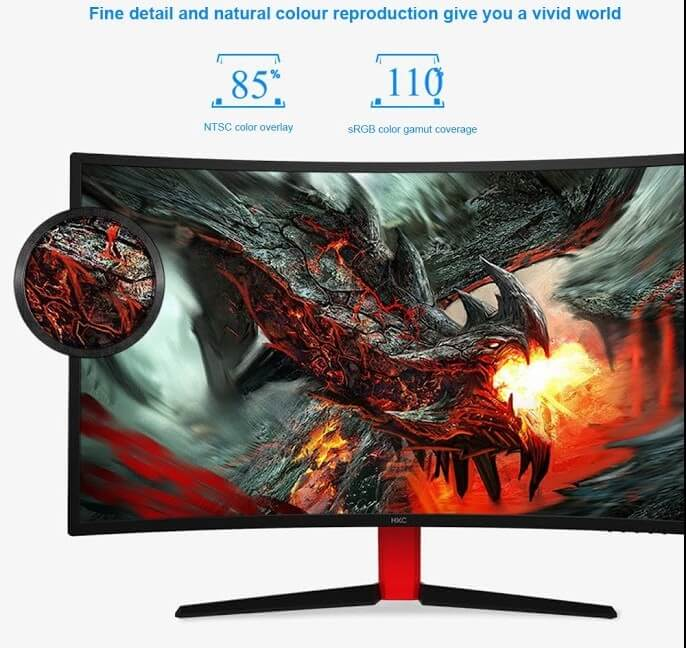 HKC G32 Curved Monitor 31.5 inch With Ultra-slim