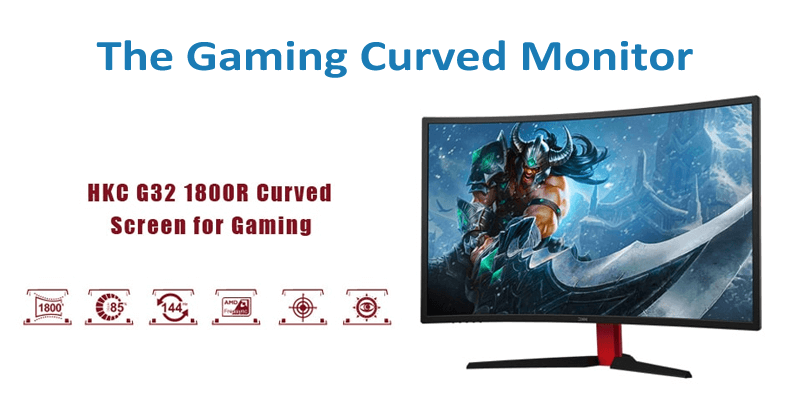 HKC G32 Curved Monitor 31 5 inch With Ultra-slim