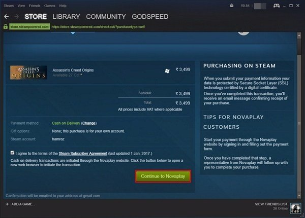 How to Purchase Games on Steam Without Using Credit Card