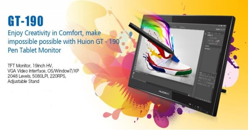 The Best Huion GT-190 19 Inch LCD Drawing Tablet
