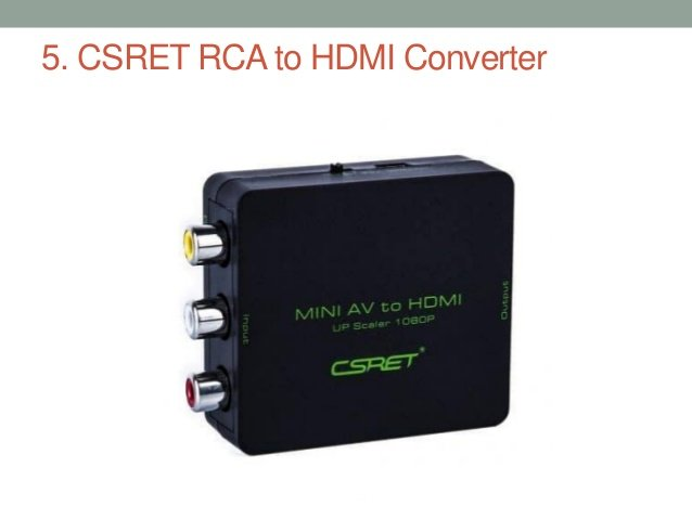 CSRET RCA to HDMI Converters