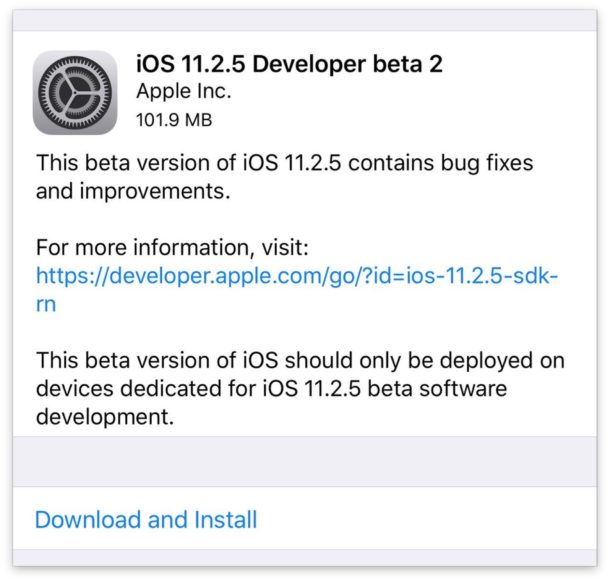 How To Download iOS 11.2.5 Beta 7 for Developers and Public Testers