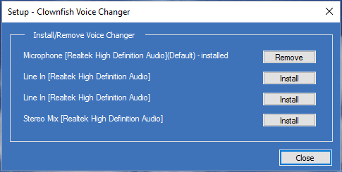 Download Clownfish Voice Changer Working Online