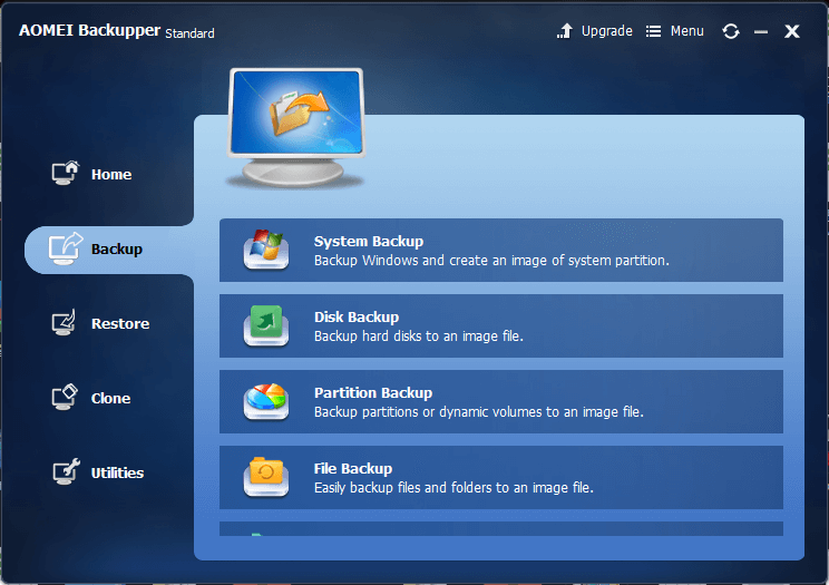 Meet AOMEI Backupper Which Replaces Windows Inbuilt Backup Program